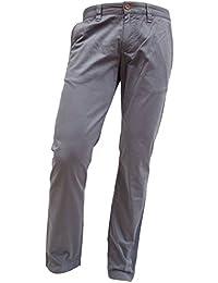 ALBERTO Regular Slim Fit Hose Gesäßtaschen mit Knöpfe rauchblau