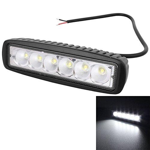 Éclairage 18W 1440LM Epistar 6 LED Barre de lampe de travail blanche pour faisceau de brouillard avec faisceau de 25 degrés, IP67, 10-30V CC, Taille: 16cm x 5.8cm x 4.6cm L'éclairage pour vous
