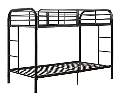 ACME Thomas Twin/Twin Bunk Bed, Black (Bunk Rails)