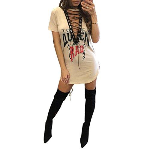 robe femme, Transer ® Femmes sexy col v profond Bandage robe Rose Floral imprimé robe Bodycon Beige