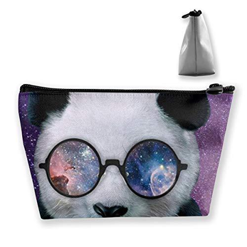 Panda Wear Nerd Runde Brille Tixing Kosmetiktasche Reise Kosmetiktaschen Etui Stift