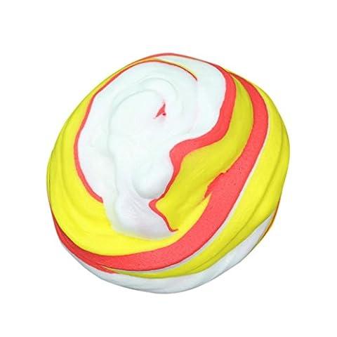 Winkey 2PC Fluffy Floam Slime Scented Stress Relief No Borax Kids Toy Sludge Toy (D)