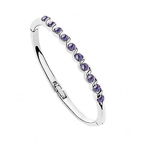 Bracelets Pour Femme Bracelet Joncs Fille Alliage Cristal Or Blanc