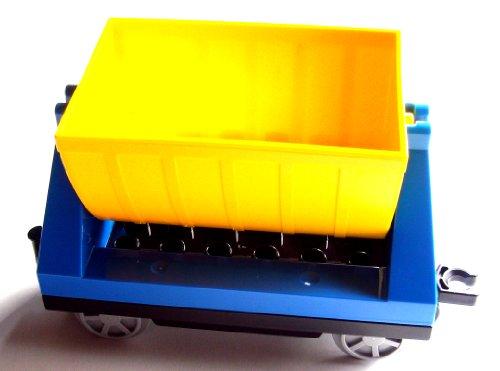 Lego Duplo Anhänger Güterlore Kipplore Güterlore gelb blau Eisenbahn 10508