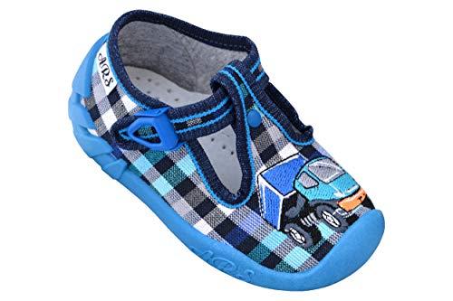 ARS Babyschuhe Jungen Lauflernschuhe Kleinkind Neugeborene Sport Hausschuhe mit Leder Einlegesohlen bis 1-3 Jahre Gr. 20 bis 26 (20 EU, Lastkraftwagen) - 1 Hausschuhe Jungen Größe