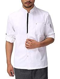 Adelina da Lavoro Avanzato Unisex Manica Lunga 2 Colori Abbigliamento  Classic Chef Uniform Jacket Coat Capispalla 65f6fee189bf