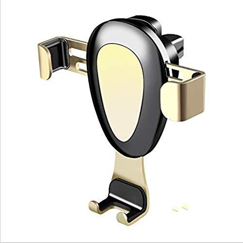 XFZK Autotelefonhalter , Schwerkraft Auto-Lock Metallclip Belüftungsöffnungen GPS (größe : Gold)