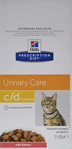 Hill's Prescription Diet Feline C/D Troubles Urinaires Nourriture pour Chat Sachets 12x85g Poisson