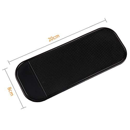 Rekkle Schwarz Rechteck-Auto-Dekoration Handy-Tablette Anti-Rutsch-Matte Ornament Platz PU-Auflage