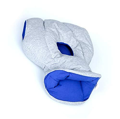 Komfortables Und Unterstützendes Flugzeugkissen Für Head Support Power Nap Auf Flug Und Schreibtisch Zu Flugzeugfliegen Reisezubehör,Blue - Flugzeug-head-unterstützung