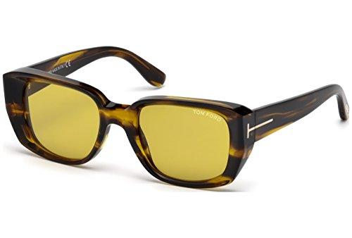 Preisvergleich Produktbild Tom Ford Raphael FT0492 C52 41E (yellow/other / brown) Sonnenbrillen