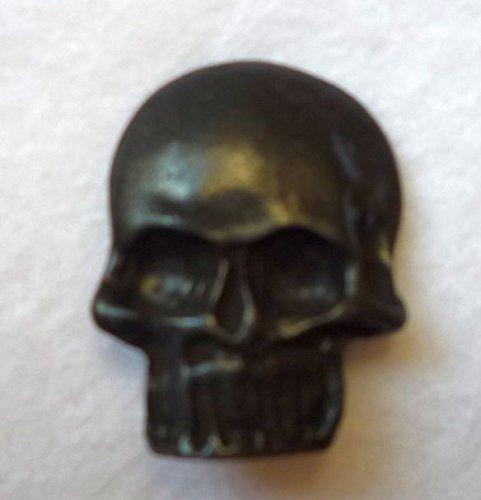 1 botón de 30 mm de metal con diseño de calavera con anilla...