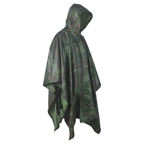 Multifunktions Wasserdichter Camouflage Regenponcho für die Jagd Camping Freizeit Regenmantel