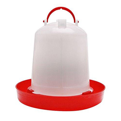 Qiman - Comedero automático de plástico para Aves de Corral, 1,5 L