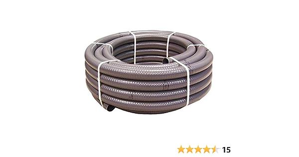 Couronne 40m Tuyau Piscine PVC Pression Souple Semi-Rigide /à coller diam/ètre 50mm⌀ ext/érieur