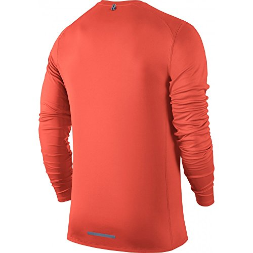 Nike Herren Dri-Fit Miler Langarm Shirt naranja (turf orange)