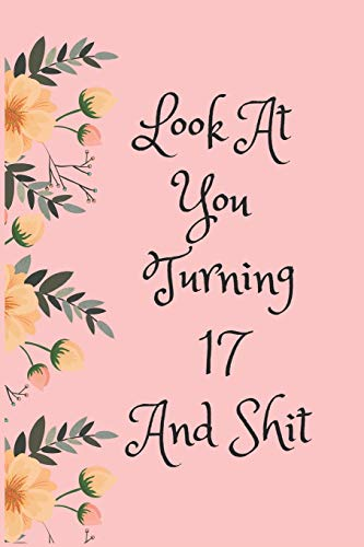 Look At You Turning 17 And Shit: Blank Lined Journal for 17th Birthday Gag Gift, Funny Gift for teen boys & girls, friends and family (6