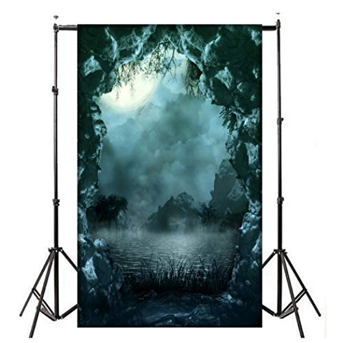 TAOtTAO fotografia sfondo sfondo stampa digitale Hallowmas Halloween zucca Graveyard modello studio fotografico, H 90x150cm, 90 x 150 cm