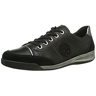 ara Rom  Damen Sneakers, Schwarz (schwarz,gun -12), 41 EU (7 UK)(9.5 US)