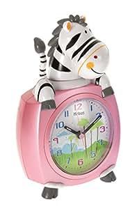 Mebus Quarz-Kinderwecker Zebra pink 26637