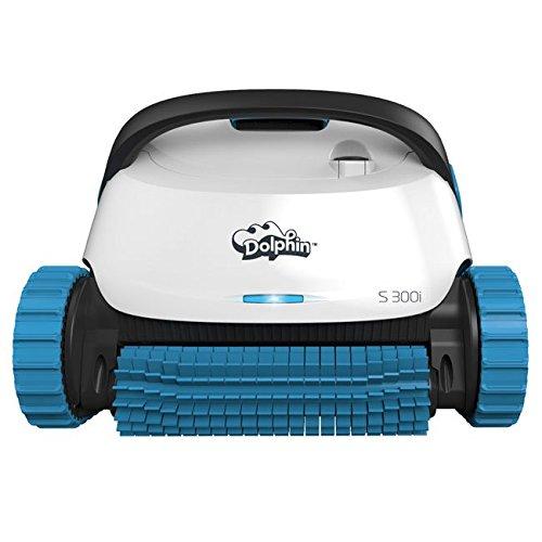 Dolphin S300i App Steuerbarer Poolroboter mit Caddy weiß/blau Smartphone-caddy