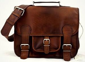 La Cartella (M), INDUS borsa pelle vintage, la borsa a mano, borsa a tracolla, (A4), PAUL MARIUS, Vintage & Retro