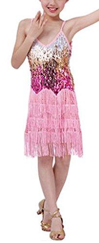 höne] Mordens Latin Dance Kostüme Mädchen-rosa Latein Kostüm Leistung Kleid ()
