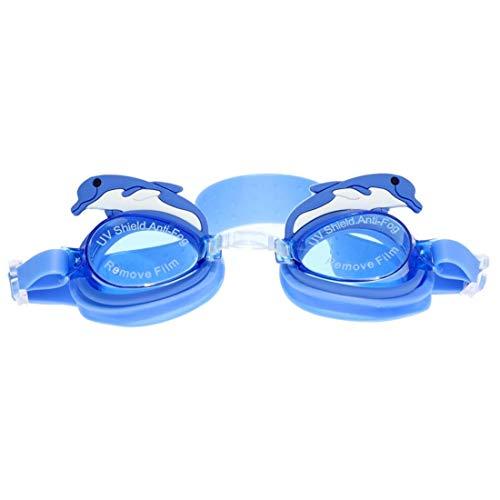 GSAYDNEE Kinder Cartoon Tier Schwimmbrille HD Wasserdichte Anti-Fog-Schwimmbrille für Kinder (Color : G)