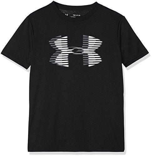 Under Armour Jungen Tech Big Logo Solid Kurzarmshirt, Black, L