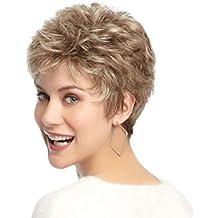 SHKY Peluca corta con estilo de las mujeres Peluca corta natural y elegante del pelo recto