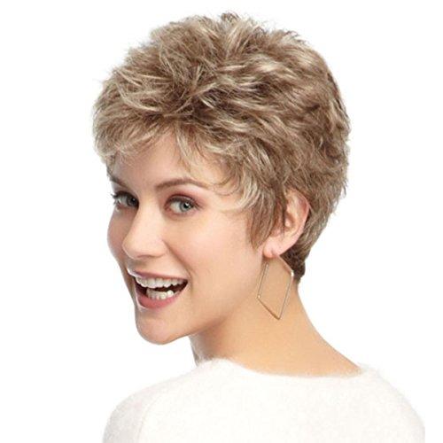 Shky parrucca alla moda delle donne corte parrucca naturale dei capelli corti e biondi eleganti, parrucche di alta qualità