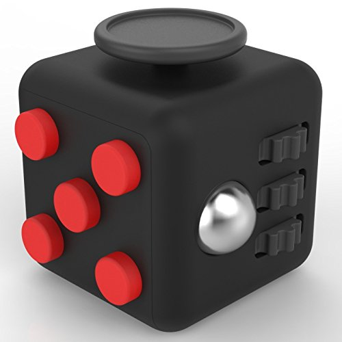 MMTX 2017 New Hand Fidget A Fidget Cube Relieves Stress For Anxiety for Adult and Children Great Gift for killing Time Red/Black