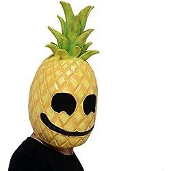Liqiqi - Máscara de piña de látex para Disfraz de Cabeza de Fruta, para Halloween