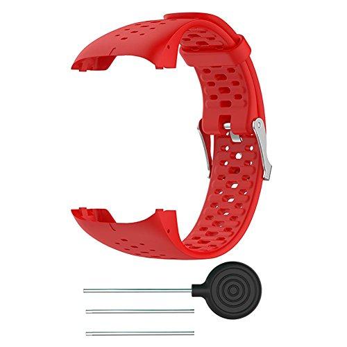 (KOBWA Polar M400/ M430 GPS-Laufuhr Uhrenarmband, Polar M400/ M430 Laufuhr Silikon Armband Zubehör Weich Silikon Gummi Ersatz Uhrenarmband Armband Sport Armband)