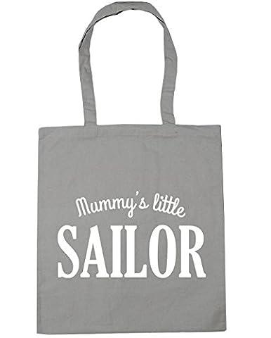 hippowarehouse Mummy's Little Sailor Sac à shopping/Sac de plage 42cm x38cm, 10litres - gris - Taille unique