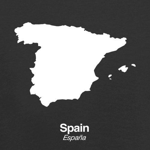 Spain / Spanien Silhouette - Herren T-Shirt - 13 Farben Schwarz