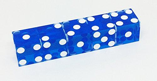 Casino-Würfel Standard 19,3 mm (blau) - Stacking-würfel