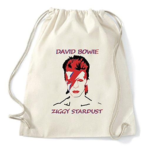 Art T-shirt, Zaino Sacca Ziggy Stardust, Natural