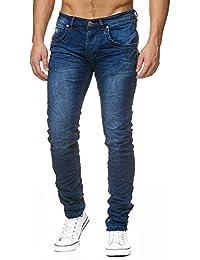 Justing MEGASTYL Herren Jeans Destroyed Basic Blau Skinny Fit 59b16b84a0