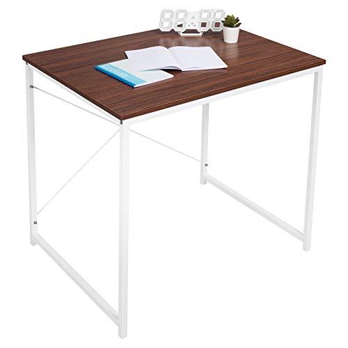 WOLTU TSB03wbr Holz mit Eisen-Gestell Computertisch Bürotisch Schreibtisch PC Tisch Arbeitstisch Esstisch Große Desktop Design