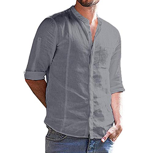 Homme Chemises Casual Manches Longues Mode Men Slim Fit Long Sleeves Dress Shirt Tops