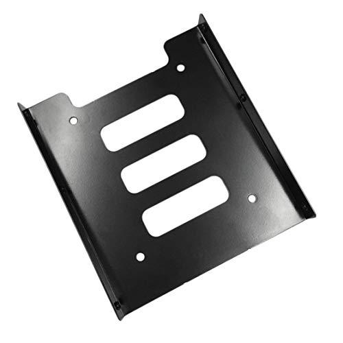 Preisvergleich Produktbild LouiseEvel215 Professionelle 2, 5 Zoll bis 3, 5 Zoll SSD HDD Metall Adapter Rack Festplatte SSD Montagehalterung Halter für PC schwarz