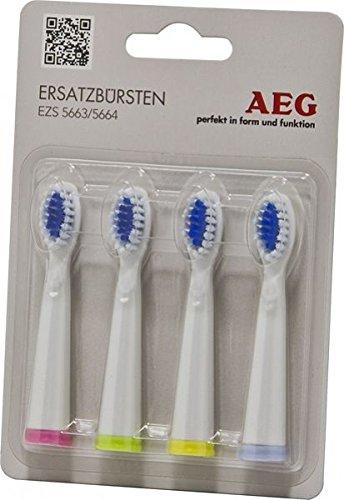 AEG 8 x Ersatzbürsten für elektrische Akkuzahnbürsten EZS 5663 und EZS 5664