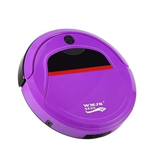 CAOQAO Aspirateur Robot, Laveur avec Fonction Lavage De Sol,SystèMe De Nettoyage Puissant, Aspirateur Robot pour Tapis Et Sols Durs,pour Maison Voiture Table Bureau Canapé Maison Animaux,Violet