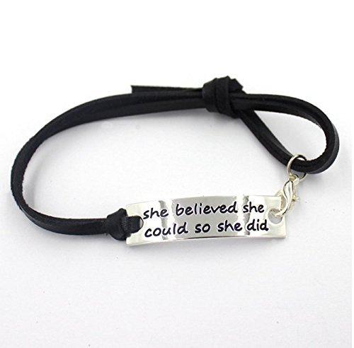 elle-croyaient-elle-peut-donc-elle-did-inspirant-pichet-en-cuir-noir-bracelet-de-malibu-sundry