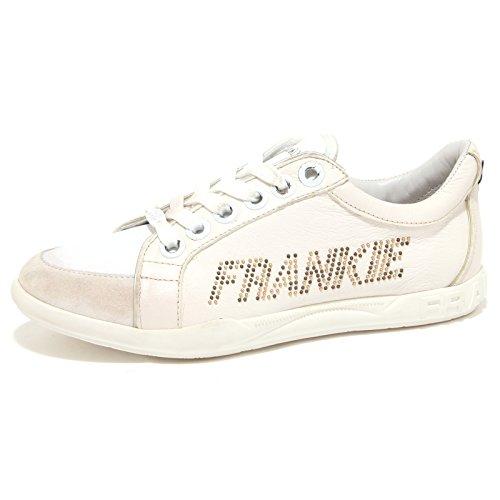 67857 sneaker FRANKIE MORELLO CUBA LUX WHITE STUD GOLD VINTAGE scarpa uomo shoes [40]