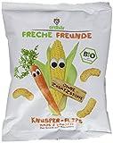 Freche Freunde Bio Knusper-Flips 'Mais & Karotte', 10er Pack (10 x 25 g)
