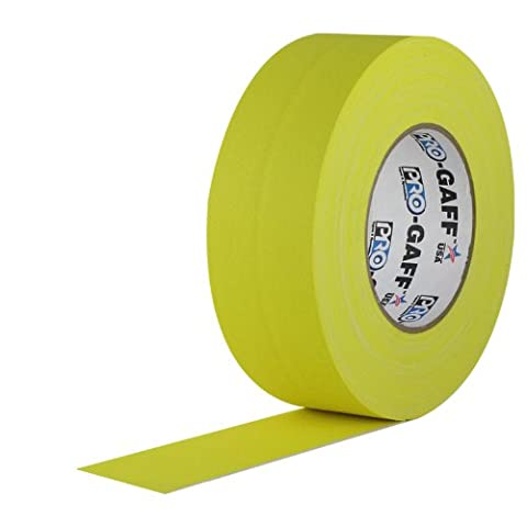 ProTapes 840178016287 Pro Gaff Premium Matte Cloth Gaffers Tape with Rubber Adhesive, 11 mil Thick, 55 yd. Length, 3
