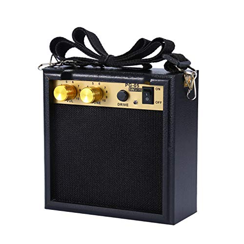 Asmuse™ 5W Mini Gitarrenverstärker fur Electric Gitarren Bass Tragbare Amplifier Combo Amp mit Overdrive effekt mit 9 Aufladbarer Batterie