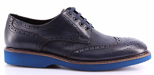 Scarpe Uomo ROBERTO SERPENTINI Pelle Blu Scuro Eleganti Business Made In Italy